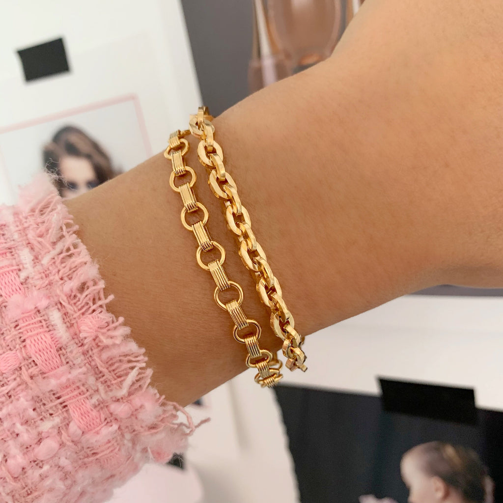 HIGH ROLLER BRACELET (14K GOLD FILLED)