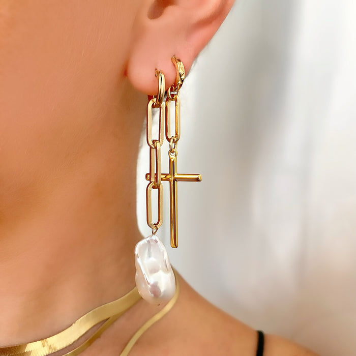 MODERN BAROQUE DROPS (14K GOLD FILLED)