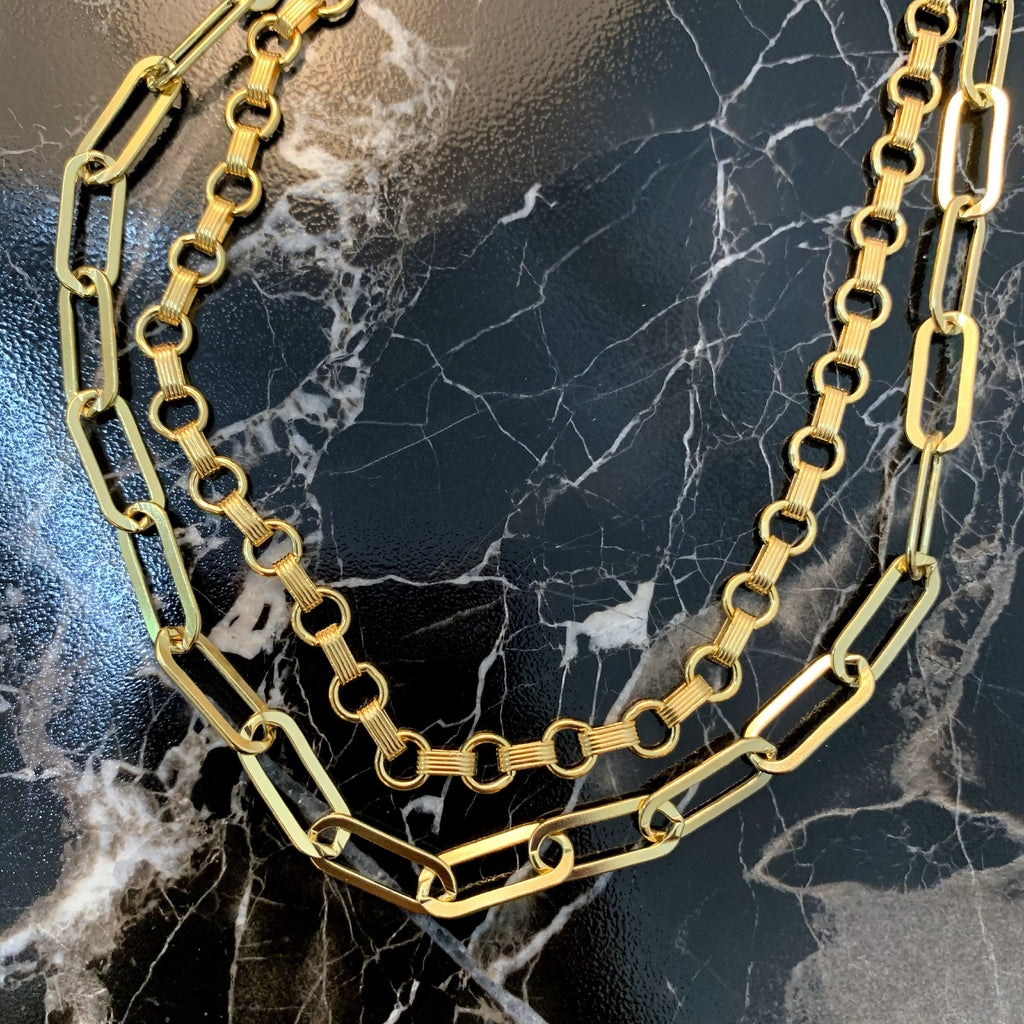 RIVIERA NECKLACE (14K GOLD FILLED OR STERLING SILVER)