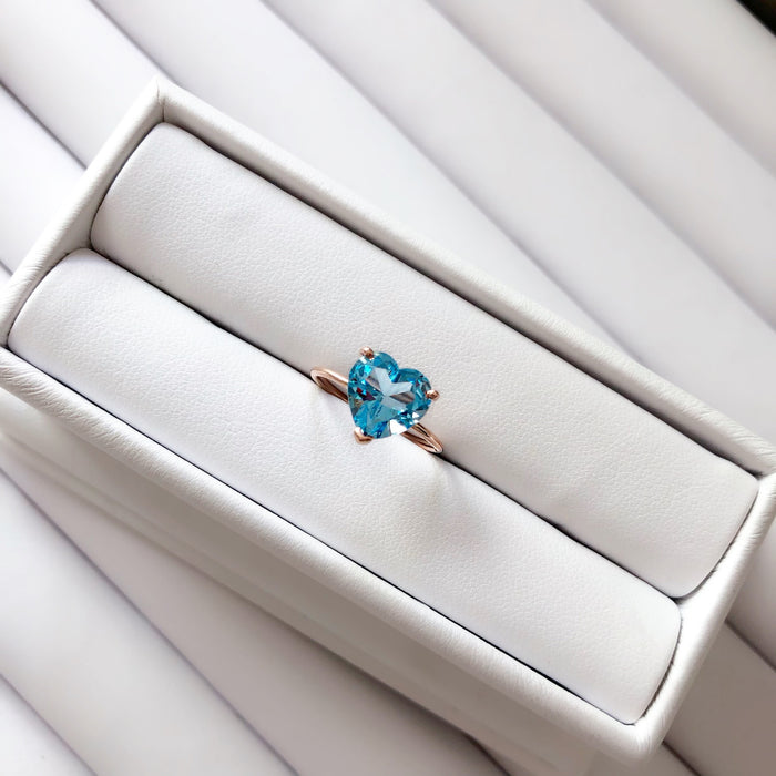 14K GEMSTONE DREAM RING (HEART SHAPE)