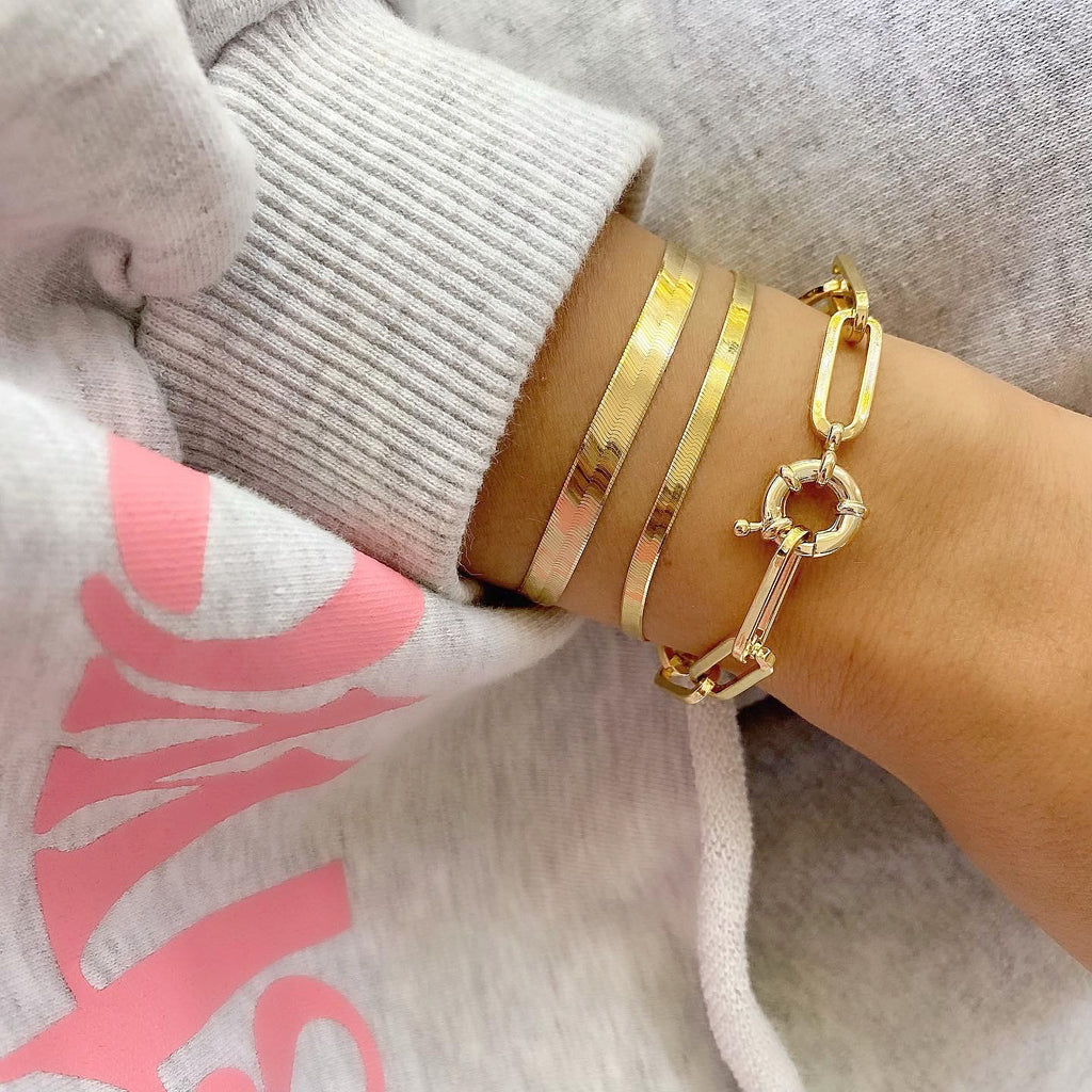 FLASH BRACELET (14K GOLD PLATED STERLING SILVER)