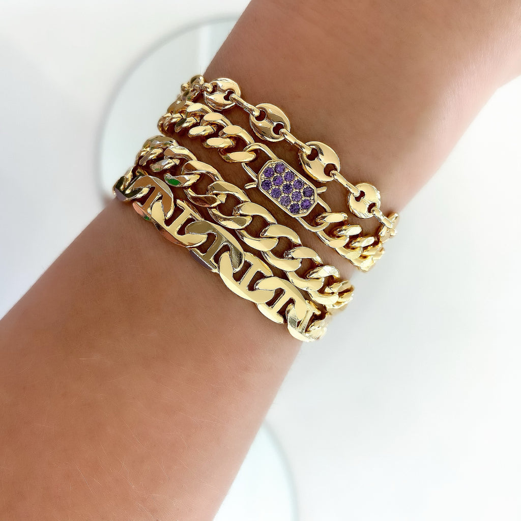 PAVÉ SECRET LOCK BRACELET