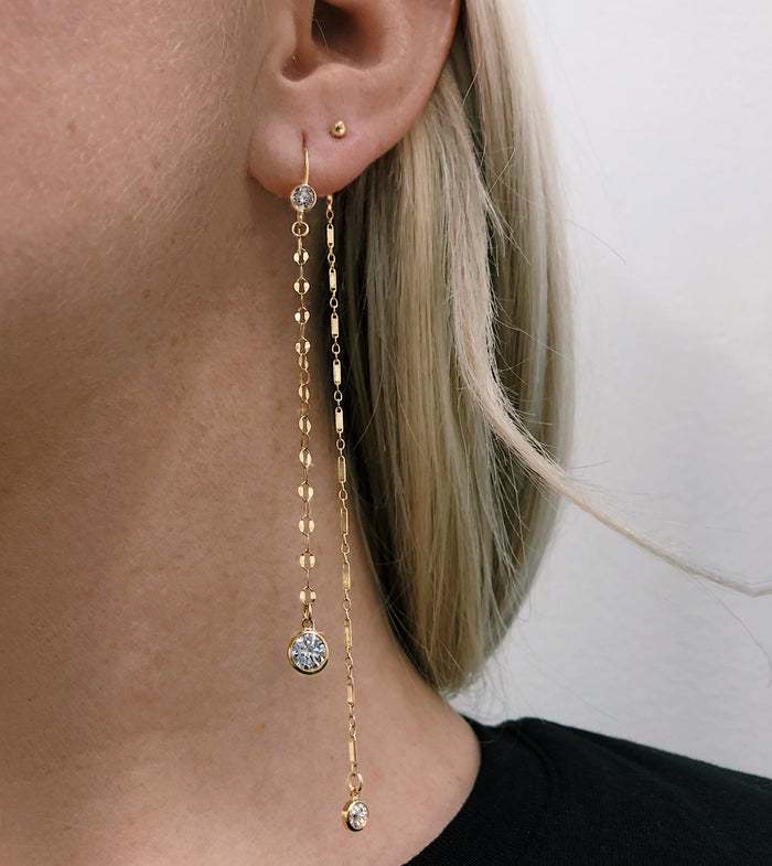 CRYSTAL ORION EARRING (14K GOLD FILLED OR STERLING SILVER)