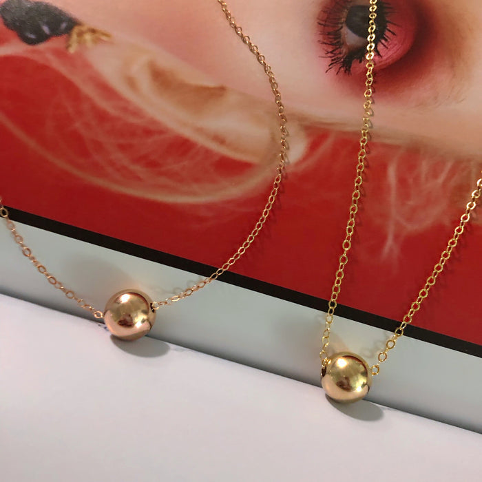 14K GOLD FILLED ORB LONG CHOKER