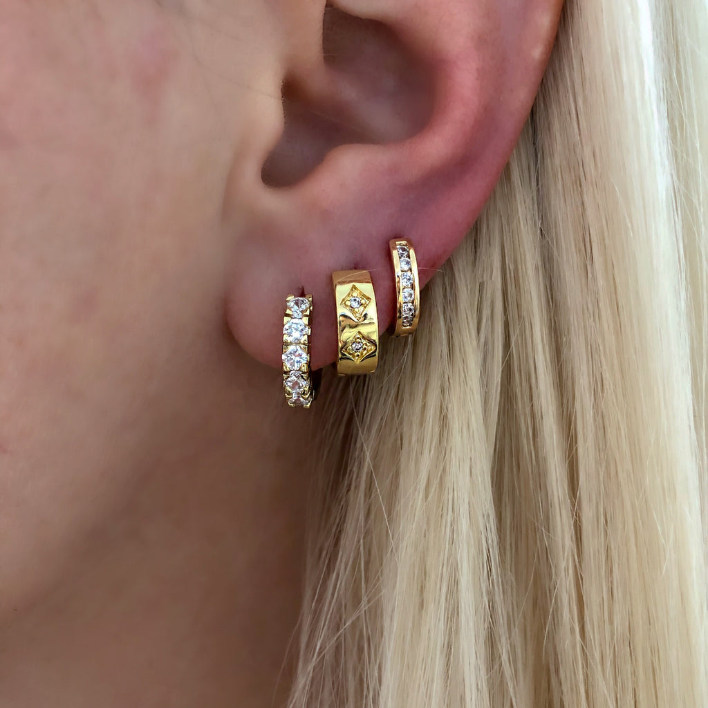 70'S CHIC HOOPS (14K GOLD FILLED)