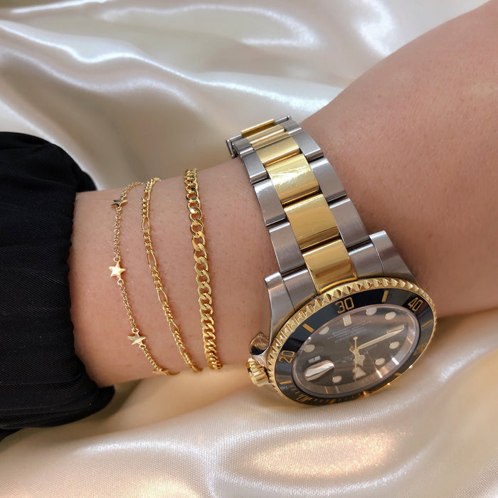 LUXE TATTOO BRACELET DUO (14K GOLD FILLED OR STERLING SILVER)