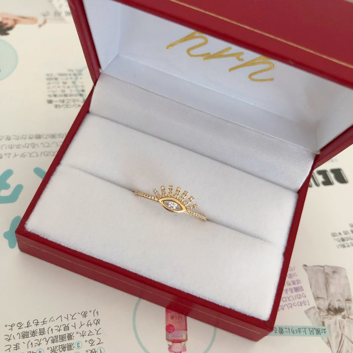 14K DIAMOND LASH RING