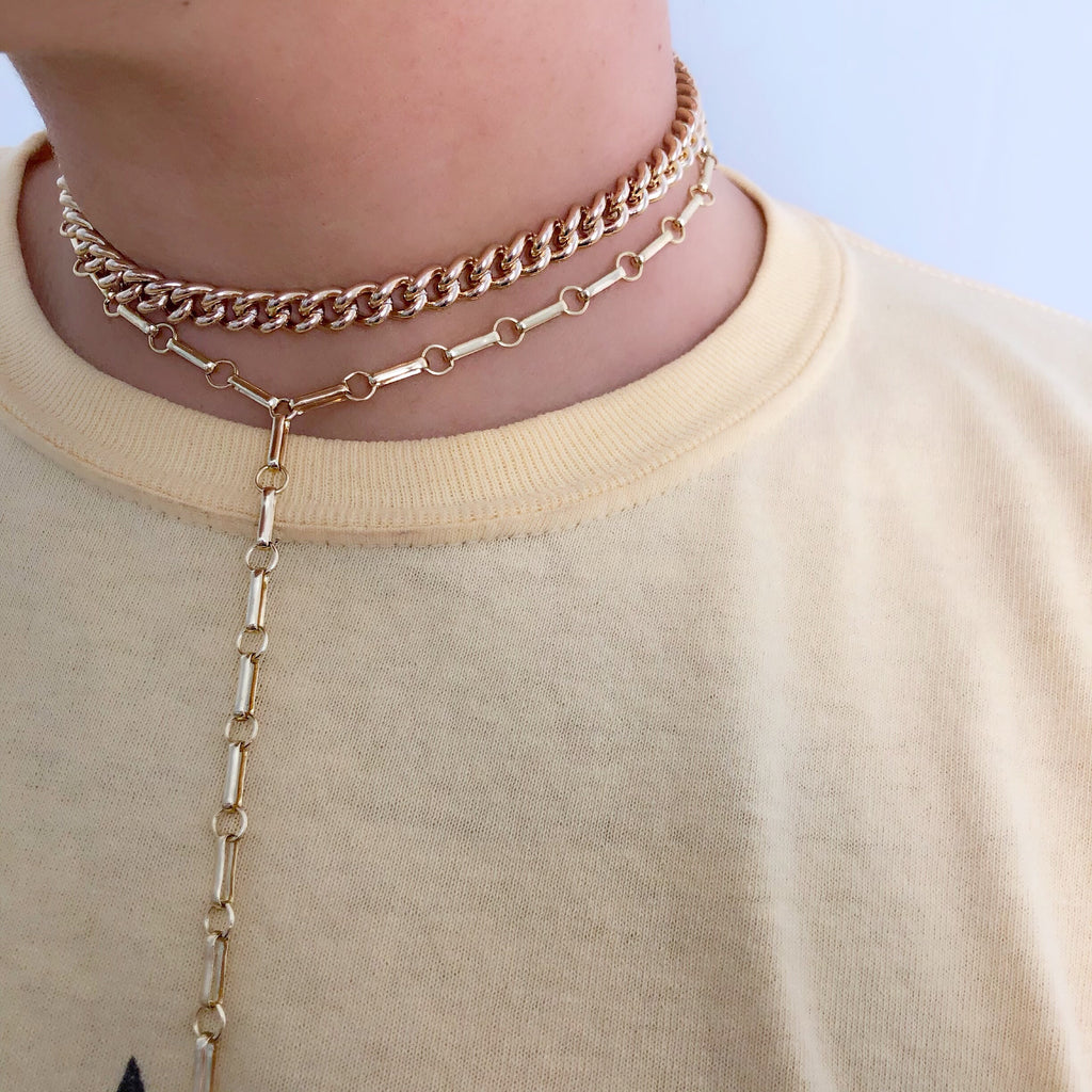 STREET STYLE LARIAT (14K GOLD FILLED OR STERLING SILVER)