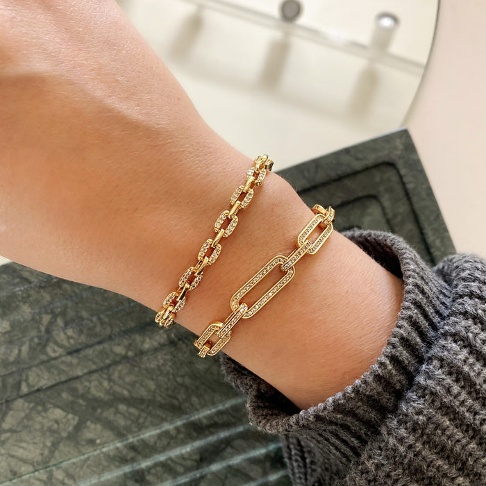 PAVÉ STACKING CHAINS (BRACELET & CHOKER)