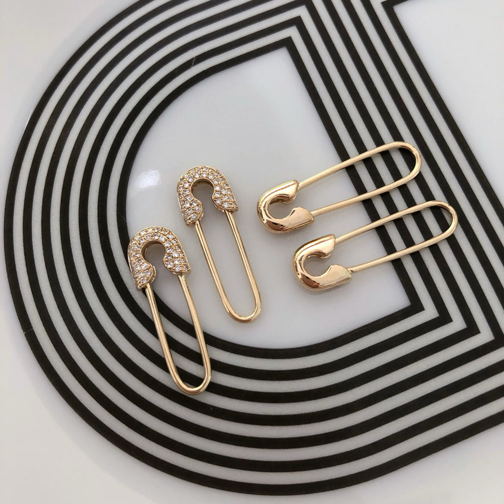 14K CHIC SAFETY PINS
