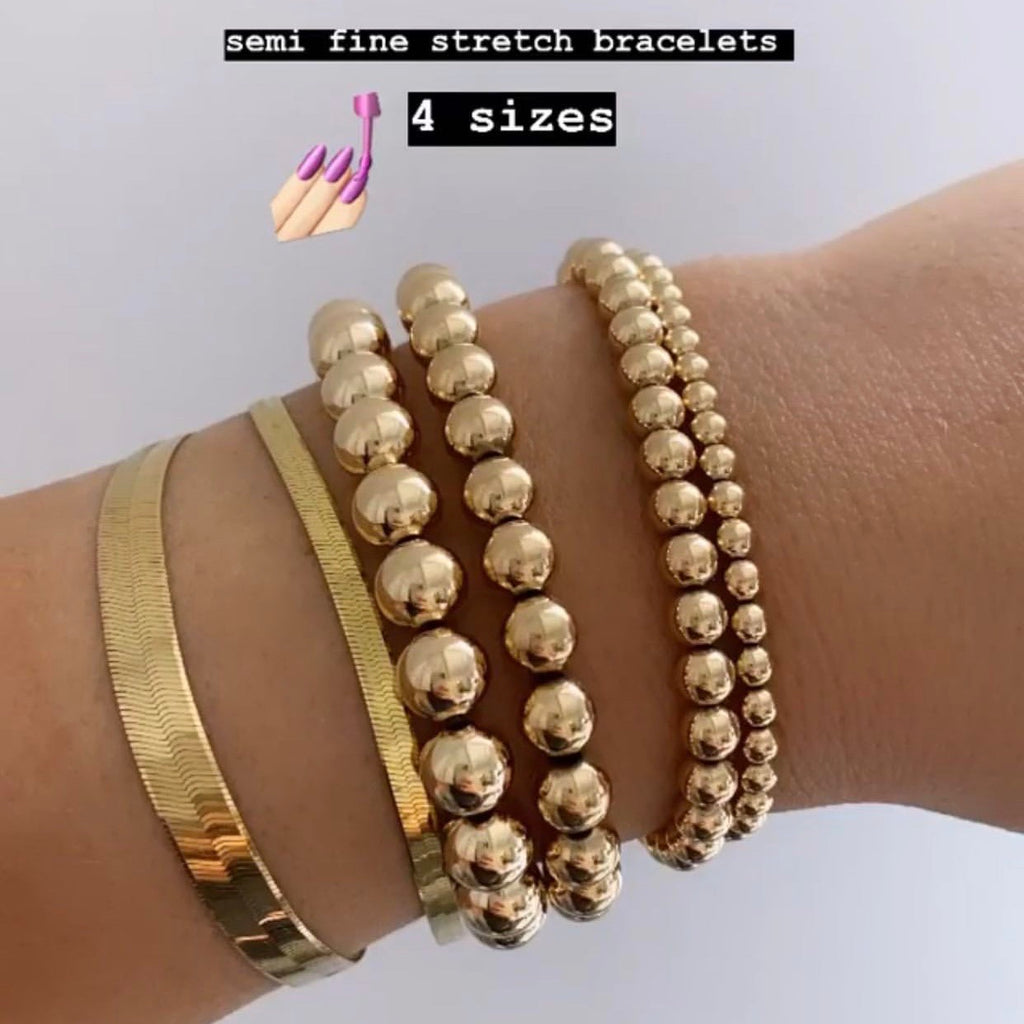 SEMI-FINE STRETCH BRACELETS (14K GOLD FILLED)