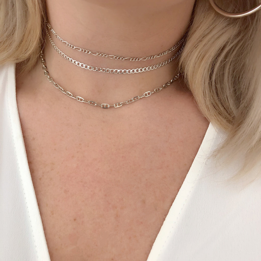 LUXE BABY GIRL CHOKER SET (14K GOLD FILLED OR STERLING SILVER)