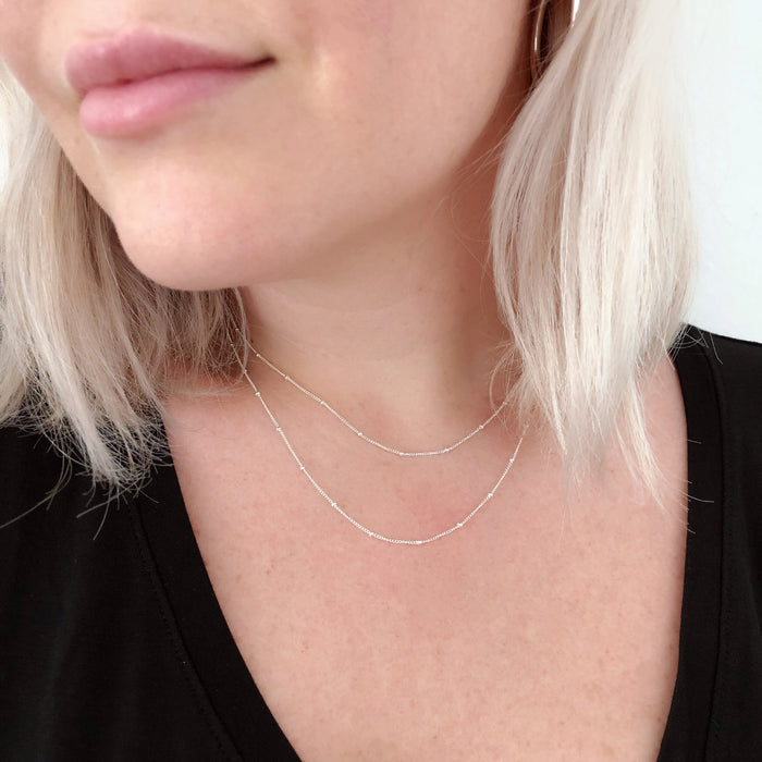 LUXE BALL DETAIL NECKLACES (14K GOLD FILLED OR STERLING SILVER)
