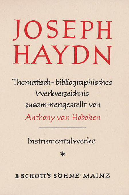 Haydn Thematic Catalog Vol. 1