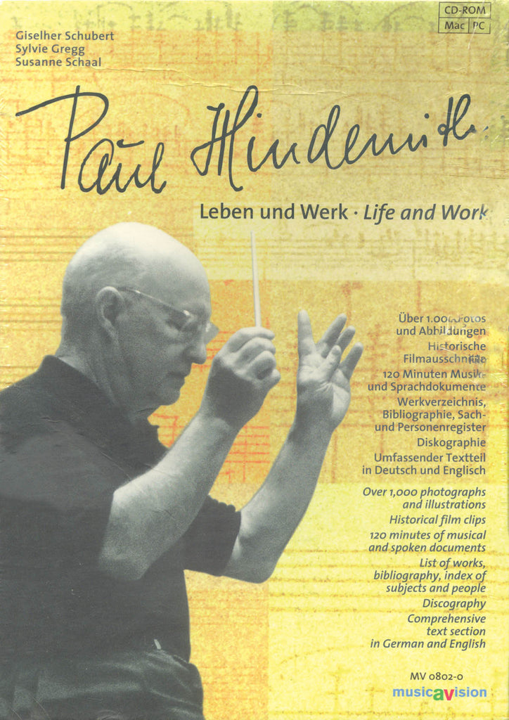Paul Hindemith: Life and Work: German/English Language