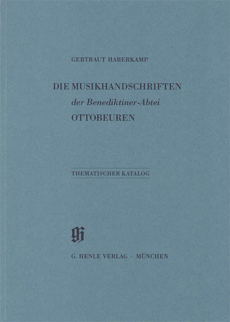 Benediktiner-Abtei Ottobeuren: Catalogues of Music Collections in Bavaria Vol. 12 Paperbound