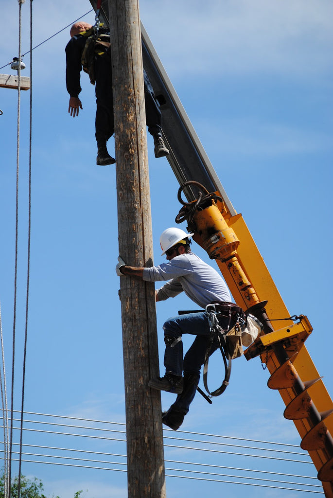 Wood pole fall protection