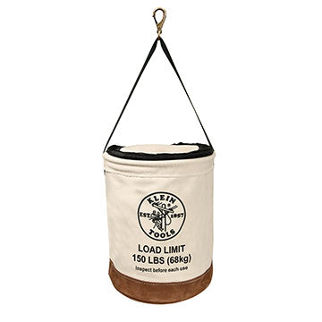 "Canvas Bucket Bag 14""x17"" Zip Top"