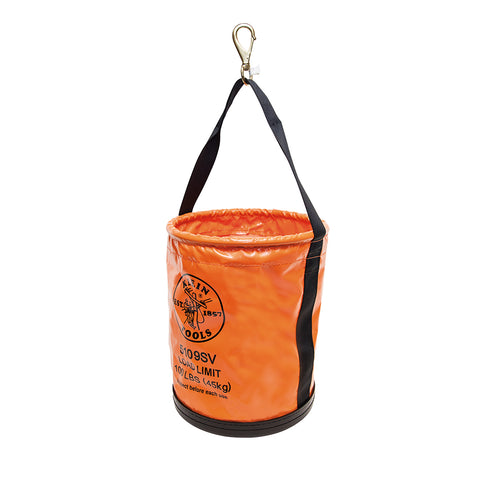 "Vinyl Bucket Bag 15"" w / Swivel Hook"