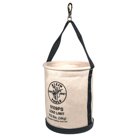 "Canvas Bucket Bag 12""x 15"" w/Snap"