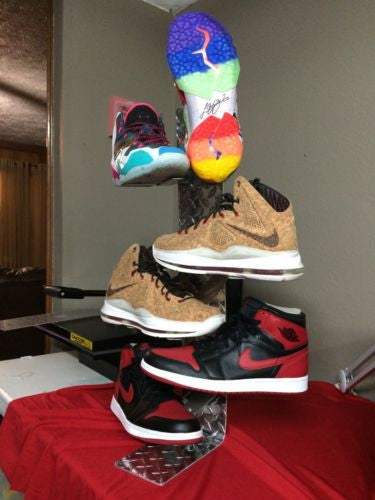 Shoe Stand Display Kit For Sneakers With Wallmounts Included