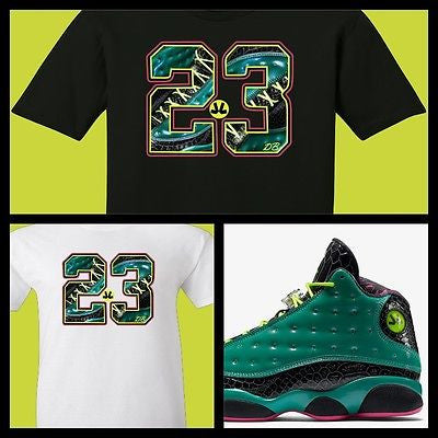 "EXCLUSIVE TEE SHIRT to match the DOERNBECHER DB AIR JORDAN 13 XIII'S! ""DB13-23"""