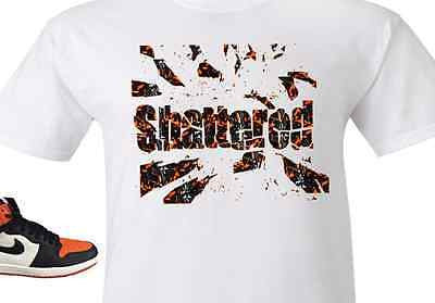 EXCLUSIVE TEE SHIRT to match the NIKE AIR JORDAN 1 SHATTERED BACKBOARDS-SB-WORD""