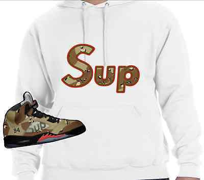 HOODIE to match the SUPREME JORDAN 5 COLLAB CAMO'S! SUP