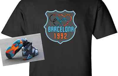 EXCLUSIVE TEE SHIRT to match the NIKE AIR JORDAN 7 VII BARCELONA DAYS OR NIGHTS!