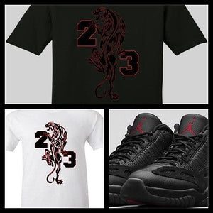 bac07e7bc482 EXCLUSIVE TEE SHIRT to match the NIKE AIR JORDAN 11 LOW BLACK CAT OR ANY  BREDS
