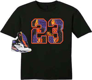 EXCLUSIVE TEE SHIRT to match the NIKE AIR JORDAN 8 THREE-PEAT/3 PEAT!