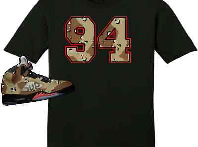EXCLUSIVE TEE SHIRTto match the SUPREME AIR JORDAN 5 COLLAB CAMO'S! CAMO 94