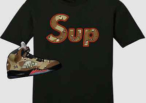 68f11f38726e EXCLUSIVE TEE SHIRT to match the SUPREME AIR JORDAN 5 COLLAB CAMO S! S –  Cop em Customs