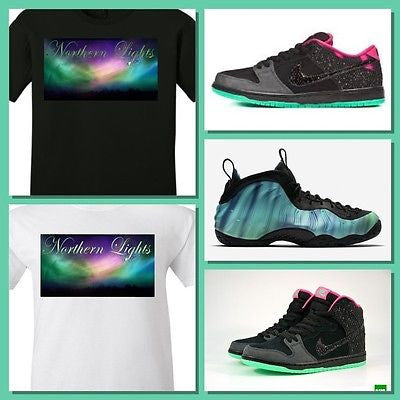 EXCLUSIVE TEE SHIRT to match the NIKE FOAMPOSITE or SB DUNK NORTHERN LIGHTS!