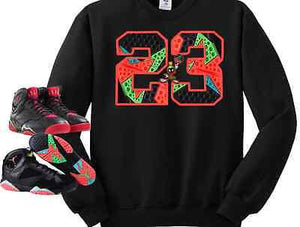 SWEATER/SWEATSHIRT to match the NIKE AIR JORDAN 7 MARVIN THE MARTIANS