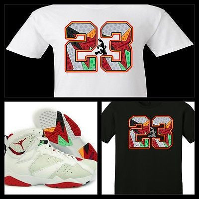 "EXCLUSIVE SHIRT to match the NIKE AIR JORDAN 1 OR 7 VII HARES! ""23 HARE"""