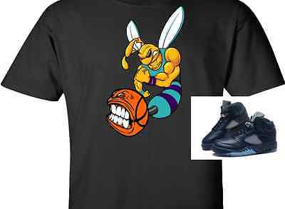 EXCLUSIVE TEE SHIRT to match ANY of the NIKE AIR JORDAN CHARLOTTE HORNETS / MIDNIGHT NAVY / BLUES!