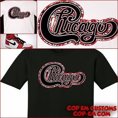 ee29f55de972 EXCLUSIVE TEE SHIRT to match the NIKE AIR JORDAN 1 CHICAGO S ...