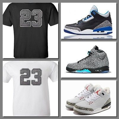 EXCLUSIVE TEE SHIRT to match ANY NIKE AIR JORDAN ELEPHANT PRINT SNEAKERS! 23-ELE