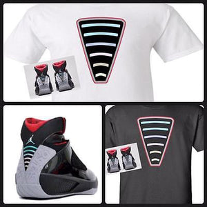 "EXCLUSIVE TEE SHIRT to match the NIKE AIR JORDAN XX 20 STEALTH LASERS!""STEALTH BACK"""