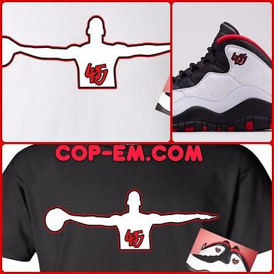 "EXCLUSIVE TEE/T SHIRT to match the NIKE JORDAN X 10 ""DOUBLE NICKELS"" OR BREDS!"