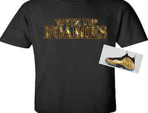 EXCLUSIVE TEE SHIRT to match the NIKE AIR FOAMPOSITE ONE METALLIC GOLDS!