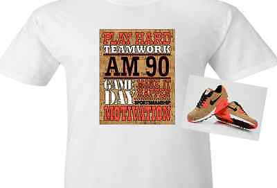 "EXCLUSIVE SHIRT to match the NIKE AIR MAX 90 CORKS! ""CORK BOARD INSPIRATION"""