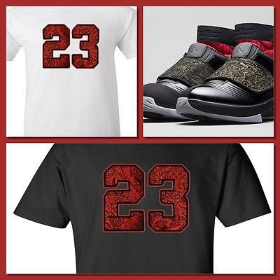 "EXCLUSIVE TEE SHIRT to match the AIR JORDAN XX STEALTH OR ANY LASERS! ""23 RED LASER"""