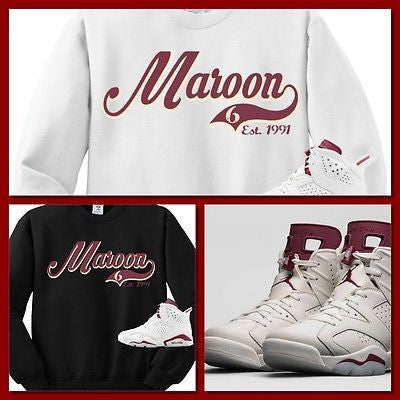 CREWNECK SWEATER/SWEATSHIRT to match the NIKE AIR JORDAN 6 MAROON'S!