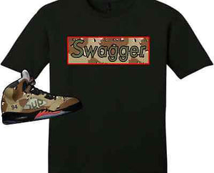 EXCLUSIVE TEE SHIRT to match the SUPREME AIR JORDAN 5 COLLAB CAMO'S! CAMO SWAG