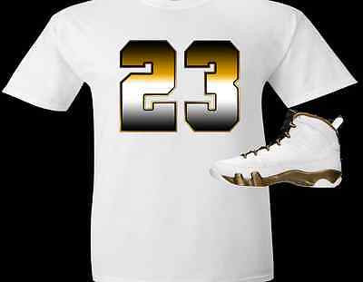 "EXCLUSIVE TEE SHIRT to match the NIKE AIR JORDAN 9 ""THE SPIRIT"" SNEAKERS-""23 BRONZE"""
