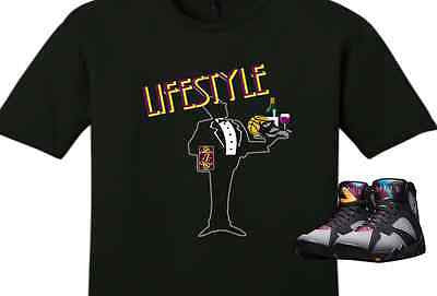 "EXCLUSIVE TEE SHIRT to match the NIKE AIR JORDAN 7 BORDEAUX! ""BALLER LIFESTYLE"""