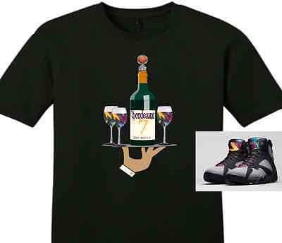 "EXCLUSIVE TEE SHIRT to match the NIKE AIR JORDAN 7 BORDEAUX! ""BORDEAUX SERVED"""