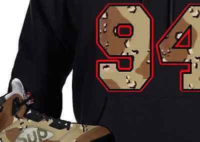 HOODIE to match the SUPREME JORDAN 5 COLLAB CAMO'S! 94